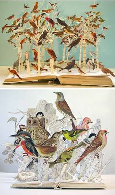 su_blackwell With a few snips here, and a few snips there, London based artist/art director Su Blackwell turns ordinary books into stunning paper sculptures, bringing birds, butterflies and fairy tales to life…