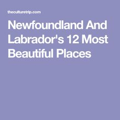 Newfoundland & Labrador was the area where Europeans first made contact with the New World and, amazingly, much of this province feels like it has changed little since that time. Newfoundland Canada, Newfoundland And Labrador, Wonderful Places, Beautiful Places, Anglican Cathedral, Face Home, The Great White, John The Baptist, Dream Vacations