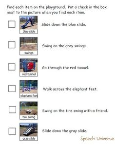 Playground Scavenger Hunt  -  Pinned by @PediaStaff – Please Visit  ht.ly/63sNt for all our pediatric therapy pins