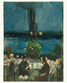 'Garden Restaurant an der Havel', c. 1925 - Lesser Ury (1861–1931)