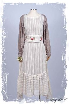 Dresses for women Linen Dress Mom Gift Knitted Dress White embroidered Dress Red roses embroidery Folk Rustic Reenactment clothing