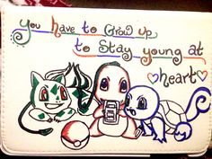 "Pokemon iPad mini case  ""You have to grow up to stay young at heart"""