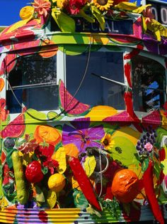 size: Photographic Print: Decorated Tram, Part of Moomba Festival Poster by Krzysztof Dydynski : Melbourne Victoria, Victoria Australia, World Images, Festival Posters, Melbourne Australia, Cool Posters, Ways Of Seeing, Vintage Images, Find Art