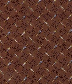 Lake Life Fish Hook and Poppers Fabric - another fabric that would be a good choice for making a quilt or other decor for someone who likes going fishing!