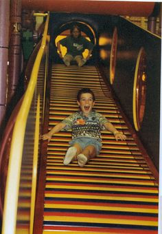 The Discovery Zone roller slide was everything.