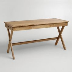 "One of my favorite discoveries at WorldMarket.com: Campaign Desk $229   60.1""W x 24""D x 30.3'H; 62.17 lbs"