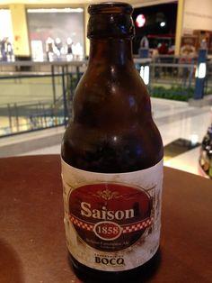 Cerveja Saison 1858, estilo Saison / Farmhouse, produzida por Du Bocq, Bélgica. 6.4% ABV de álcool.