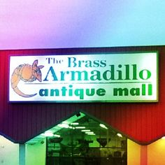 Color your world at The Brass Armadillo Antique Mall/Kansas City. Open 9am-9pm, every day except Christmas. Call for directions (816) 847-5260