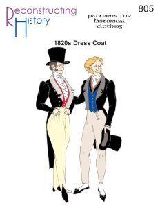 1820s Dress Coat | Regency Dress Coat | Regency Coat Pattern