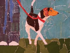 """Paper Paint Walking the Dog   """"A Place for Learning"""""""