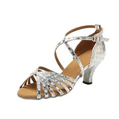 Minitoo GL226 Womens Strappy Silver Synthetic Latin Tango Ballroom Professional Dance Shoes Wedding Prom Sandals 4 M US ** You can find out more details at the link of the image.(This is an Amazon affiliate link)