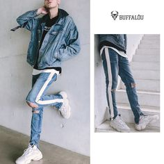 Streetwear, Denim, How To Wear, Jackets, Outfits, Fashion, Street Outfit, Down Jackets, Moda