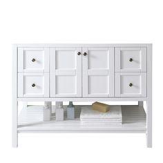 Virtu USA Winterfell 48-inch White Single-sink Cabinet Only Bathroom Vanity - Overstock™ Shopping - Great Deals on VIRTU Bathroom Vanities