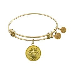 Angelica Fleur De Lis Bangle (also available in rose and white finishes). www.troyshoppejewellers.com