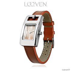 Montre quartz originale, bracelet cuir, mouvement myota garanti 2 ans, boitier sans nickel 45€ sur www.loaven.fr A découvrir parmi de nombreux modèles femme, homme, ado, enfant