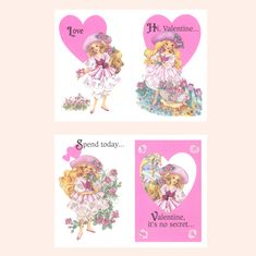 Peppermint Rose Valentines 1993 Vintage Pink Valentine's Day Cards | Brown Eyed Rose Vintage Pink, Vintage Toys, Childhood Memories 90s, 90s Kids, Valentine Day Cards, Peppermint, Pink Hearts, Rose, Messages
