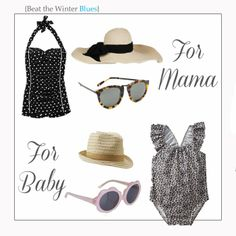 For Mama/Baby bathing suit outfits. Cute gift for Elise/Khloe and Nicole/Taylor