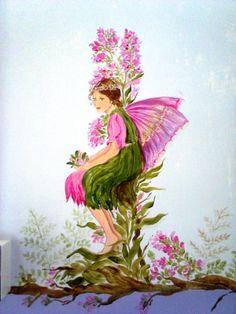 fatine dei fiori-dipinto su muro-Cristina Lissiotto