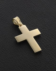 Σταυρός Χρυσός Κ14 Cross Necklaces, Mens Crosses, Crucifix, Christening, Gold Jewelry, Medieval, Rings, Baby, Stuff To Buy
