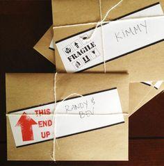Housewarming Invitation Envelope DIY