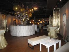 art deco party entrance | Gallery decorated for symposium
