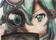 Sword Art Online 2 - Sinon by januaroreo on DeviantArt - capable Otaku Anime, Manga Anime, Tv Anime, Fan Art Anime, Manga Girl, Anime Girls, Arte Online, Kunst Online, Online Art