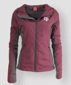 Women's Maroon Texas A&M Corridor Windbreaker. College Shirts, College Fun, Texas A&m, Corridor, Windbreaker Jacket, Motorcycle Jacket, Jackets For Women, Fan, My Style