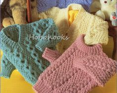 Baby knitting pattern childrens knitting pattern aran sweaters baby childs childrens aran sweaters in 4 styles 18 to 28 inch chest aran yarn knitting pattern pdf instant download dt1010fo