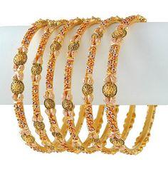 for people IND Asian  Indian Bridal Gold Jewellery Sets | Indian Jewellery Design: Indian Traditional Bridal Gold Bangles Set