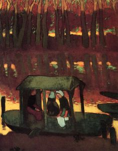 "fleurdulys: ""  Remembrance of Evening - Maurice Denis 1890 """