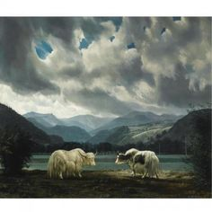 """De yaks (Yaks)"", 1953 / Carel Willink (1900-1983) / Collection Erven mr. G.J. van Hall, Amsterdam, The Netherlands"