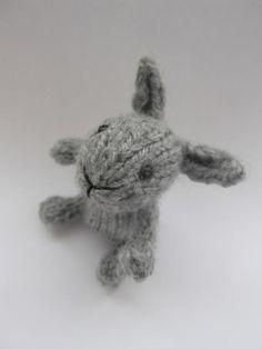 tiny handknit bunny. just because.