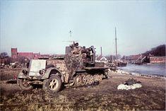 "* Abandoned ""SdKfz 7/1"" in Fischhausen. March, 1945 * # World War II #"