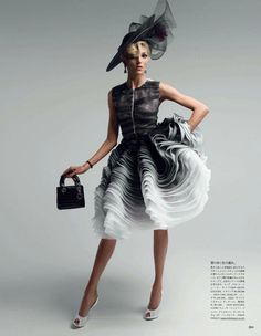 """VOGUE JAPAN: ANJA RUBIK IN """"COUTURE TO ADORE"""" BY PHOTOGRAPHER PATRICK DEMARCHELIER"""