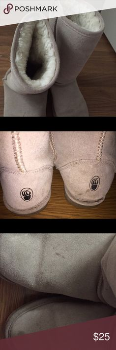 Bear paw boots Tan bear paw boots- worn, markings in pics. BearPaw Shoes Winter & Rain Boots