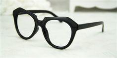伊達メガネフレームブラックカラー御洒落デザインメガネ太いフレーム半透明メガネフレームタイプダテメガネ