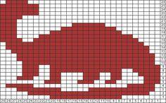 Tricksy Knitter Charts: dinosaur by John