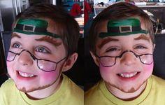 St. Patrick's Day - Kids Face Painting. Natalie Lenser, DDS - pediatric dentist in Modesto, CA @ www.toothfairyteam.com