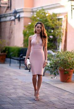 best ideas about Jessica Ricks Blush Dresses, Sexy Dresses, Nice Dresses, Fashion Moda, New Fashion, Asian Woman, Asian Girl, Poses Modelo, Hapa Time