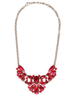 ruby red gemstone bib