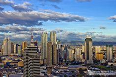 Manila skyline Makati City, Quezon City, Manila Philippines, Philippines Travel, Rizal Park, Fort Santiago, American Cemetery, Exotic Beaches, Ocean Park