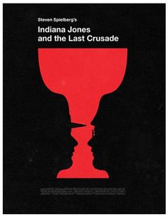 Affiches minimalistes de films cultes - Indiana Jones