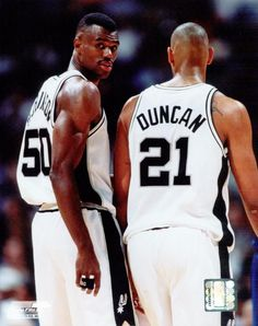 Tim Duncan; here pictured with David Robinson.