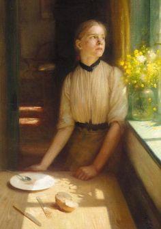 Imprisoned Spring, Arthur Hacker. English Pre-Raphaelite Painter (1858-1919)