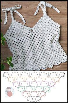 Débardeurs Au Crochet, Pull Crochet, Crochet Motifs, Crochet Shirt, Crochet Woman, Crochet Cardigan, Crochet Stitches, Crochet Baby, Crochet Patterns