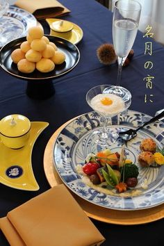 テーブルコーディネート|~ On The Table ~ -お月見 Japanese Table, Japanese Dinner, Japanese Food, Dinner Table, A Table, Japanese Vegetarian Recipes, Hot Pot, Food Styling, Food Art