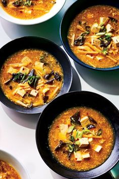 Her Vegetable Hot-and-Sour Soup offers extraordinary depth of flavor from ginger, soy sauce, and sesame oil and layers of texture from lily buds, mushrooms, and bamboo shoots—you won't miss the meat. #asianrecipes #internationalrecipes #asiancuisine #foodandwine