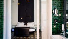 Hotel-Praktik-Rambla-badrum, green tiles