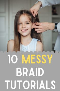 Everyone wants to learn how to do a messy braid, right? Here are 10 messy braid tutorials that are from YouTube that will give you step-by-step instructions to help you perfect the style you've been looking for! Messy French Braids, Two Dutch Braids, Messy Braids, Twist Braids, Messy Braid Tutorials, Twist Braid Tutorial, Ponytail Tutorial, Side Braid Hairstyles, Braided Hairstyles Tutorials