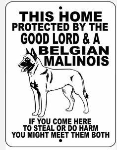 Malinois warning